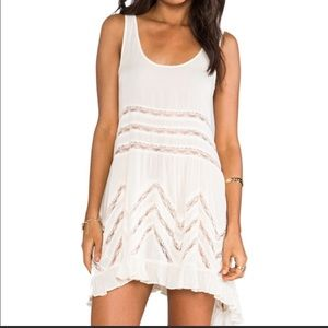 Free People Intimately white lace slip dress